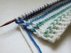 tips for stripes, carrying colors up the sides and corrugated ribbing from whit::knits