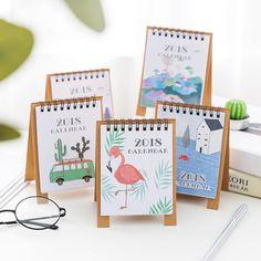 2018 jahr Kreative Kawaii Minni Cartoon Schreibtisch Tisch Kalender Schöne Kleine Kalender Desktop Plan Bürobedarf Dekoration