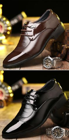 US$30.52 Men Classic Cap Toe Pointed Toe Business Formal Dress Shoes#shoes #formal #dress