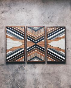 "1,415 Likes, 10 Comments - 1767 | Nashville, TN (@1767designs) on Instagram: ""This triptych beaut is on his way to his new home in LA. Made from wood rescued from a home-built…"""