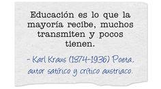 Karl Kraus (1874-1936) Poeta, autor satírico y crítico austriaco.  #citas #frases