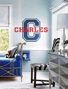Celebrate Your Sports Star In Style This Boy Monogram And Name Design Is  Personalized Just For Them. $34.99 From Www.beautifulwalldecals.com