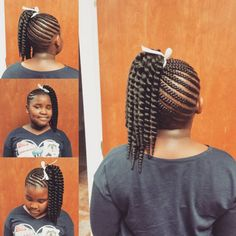 60 Styliosh Hairtyles with Braids for Kids — From Box and Crochet Braids to French and Dutch Braid. Kids Crochet Hairstyles, Crochet Braids For Kids, Lil Girl Hairstyles, Natural Hairstyles For Kids, Kids Braided Hairstyles, Crochet Hair Styles, Natural Hair Styles, Easy Crochet, Unique Crochet