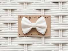 White Butterfly Bow Clip - Baby Bow by RicheyandRoo on Etsy, $4.00