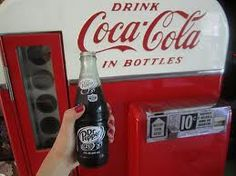 Soda came in glass bottles.  Nothing better than an ice cold bottle of soda...with a bag of planters peanuts.