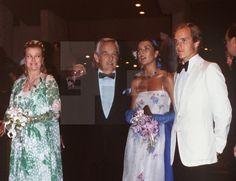 Princess Grace, Prince Rainier, Princess Caroline and Price Albert in1979