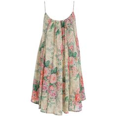 Floral printed cotton voile panelled dress with taupe lace detailing on throughout. 100% cotton. Hand wash only.