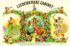 Liederkranz cigar box label