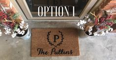 Custom Name Hand-painted Coir Doormat - Personalized Welcome mat by AfterInfinity