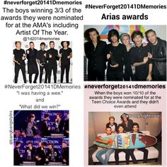 #NeverForget20141DMemories Awards!