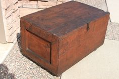 1941 Repurposed Shipping Crate.  Love it for a coffee table that can store blankets and magazines.