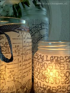 Candle light holders tissue paper