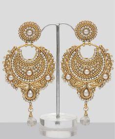 indian jewelry | indian jewellery bali chandelier earrings silver ...