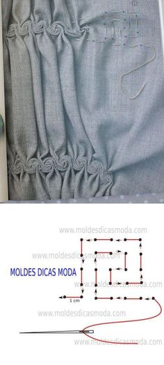 Ideas Creative Art Fashion Fabric Manipulation For 2019 Techniques Couture, Sewing Techniques, Embroidery Techniques, Smocking Patterns, Sewing Patterns, Clothes Patterns, Skirt Patterns, Coat Patterns, Blouse Patterns
