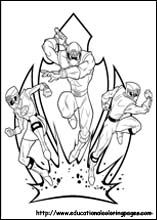Space Bull Power Ranger Coloring Page For Boys