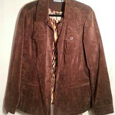 Jacket Corduroy chocolate brown Croft & Barrow Jackets & Coats Blazers
