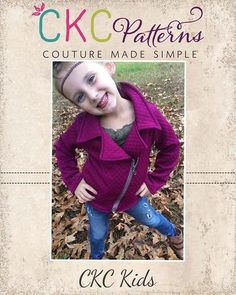 Create Kids Couture - Jessie's Moto Jacket and Vest PDF Pattern, $8.00 (http://ckcpatterns.com/jessies-girls.html)