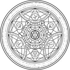 transmutation circle symbols - Bing Images