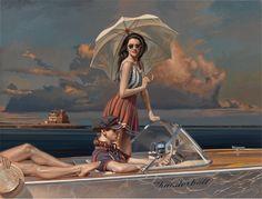 THUNDERBALL oil on canvas by PEREGRINE HEATHCOTE