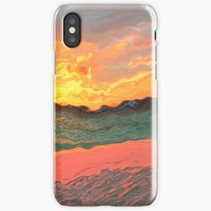 """""""Sandy beach and see in shades of peach and pastels- new view of the World"""" iPhone Case & Cover by Artlajf   Redbubble Shades Of Peach, New View, Iphone Case Covers, Pastels, Iphone 11, Ink, Abstract, Beach, Nature"""