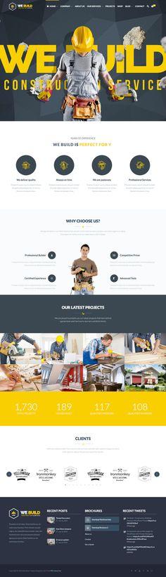 We Build (More web design inspiration at topdesigninspiration.com) #design #web #webdesign #inspiration #sitedesign #responsive