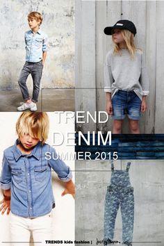 Trends summer 2015 kids fashion | kindermode trends zomer 2015 - The best denim trends for children this summer