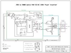 Nonstop-Free Electronic Circuits Project Diagram and Schematics: 250 to 5000 watts PWM DC/AC Power Inverter Electronic Circuit Projects, Electronic Engineering, Electronics Projects, Diy Electronics, Electrical Engineering, Ac Circuit, Circuit Diagram, Solar Panel Cost, Solar Panels For Home
