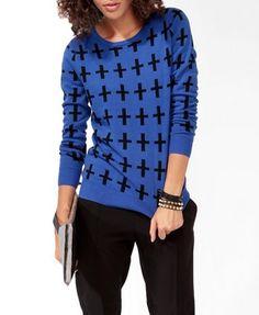 Cross Patterned Sweater | FOREVER21 - 2027705258