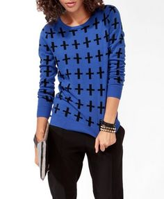Cross Patterned Sweater $19.80 (Forever 21)