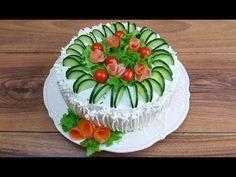 Smörgåstårta Cake Sandwich,Easy and Fast Sandwich Torte, Egg Salad Sandwiches, Delicious Sandwiches, Veggie Cakes, Food Decoration, Finger Foods, Food Art, Buffet, Good Food