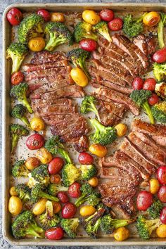 Sheet Pan Steak and