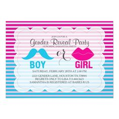 Shop Gender Reveal Baby Shower Invitation created by AllbyWanda. Baby Shower Invites For Girl, Baby Shower Invitations, Custom Invitations, Invitation Cards, Gender Reveal Invitations, Babies R Us, Baby Shower Gender Reveal, Reveal Parties, Rsvp