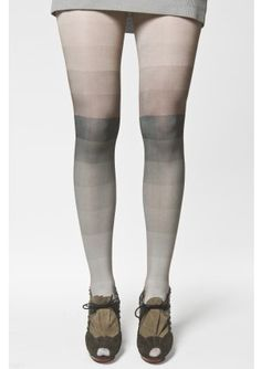 These tights are amazing! I love how they look like tint swatches! (Kron by KRONKRON)