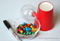 Easy to Make Candy Gumball Machine Party Favors by Amy Locurto at LivingLocurto.com