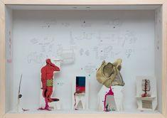 Finirà come Cola (dettaglio), 2009 media diversi in legno e vetro, cm 70x50. Foto Claudio Abate