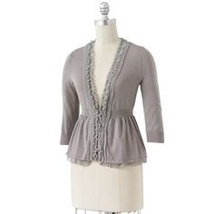 not what I'm looking for, but super cute nonetheless! ELLE Chiffon Cardigan