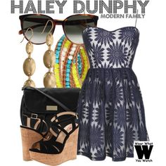Inspired by Sarah Hyland as Haley Dunphy on Modern Family.