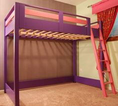 Diy Loft Bed for Kids . top 20 Diy Loft Bed for Kids . Diy Over Bed Kids Loft Jaime Costiglio Build A Loft Bed, Loft Bed Plans, Boys Loft Beds, Bunk Beds, Loft Beds For Small Rooms, Diy Home Decor Rustic, Kids Room Paint, Kids Rooms, Bunk Bed Designs