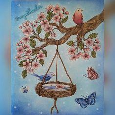 "98 Likes, 24 Comments - Pernilla (@anpethcolor) on Instagram: ""Birdbath #mariatrolle #maria_trolle #skymningstimman #skymningstimmanmålarbok #duskhour…"""