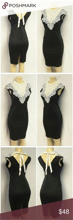 "40% BUNDLE DISCOUNT! FREE SHIPPING ON BUNDLES!! NEW WITH TAG, LYDIA BRIGHT, LIPSTICK BOUTIQUE, Embroidered Lace Front Dress, size 12 See Measurements, fitted seams, soft stretchy knit material, 82% polyester, 14% viscose, 4% elastane, Trim; 100% polyester, approximate measurements: 39"" length, 17"" bust laying flat, 16"" waist laying flat, 8"" center back zipper, 8"" center back slit at hem. ADD TO A BUNDLE!?? 40% BUNDLE DISCOUNT! FREE SHIPPING ON BUNDLES!! ?OFFER? 40% less Plus $6 LESS ON…"
