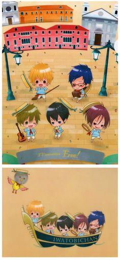 Chibi art by Taito ...   Free! - Iwatobi Swim Club, haruka nanase, haru nanase, haru, haruka, free!, iwatobi, makoto tachibana, makoto, tachibana, nanase, rei ryugazaki, rei, ryugazaki, nagisa hazuki, hazuki, nagisa, matsuoka, rin, rin matsuoka