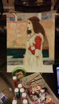 Jazzy's version of Waterhouse's painting of juliet