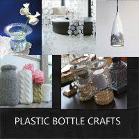 plastic bottle crafts to use in home decor: Rustic Crafts & Chic Decor