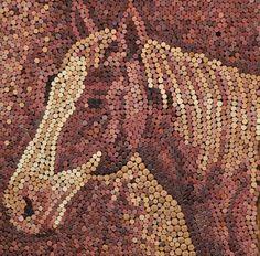 wine cork mosaic art