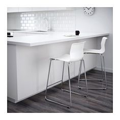 "IKEA - GLENN, Bar stool, 26 "", , The stool can be stacked, so you can keep several on hand and store them in the same space as one."