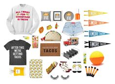 """""""Eat more tacos!"""" by adele-ioannou ❤ liked on Polyvore featuring Yellow Owl Workshop, Casetify, Betsey Johnson, Three Potato Four, Roman, Forever 21, Chicago Metallic, Batiste, Maybelline and Chanel"""