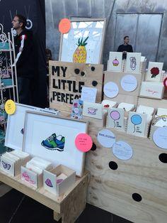 MyLittlePerfect market stall display.
