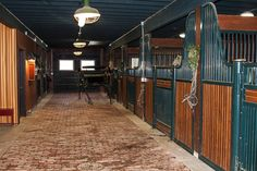 Beautiful Brick Barn Aisle | Stable Style