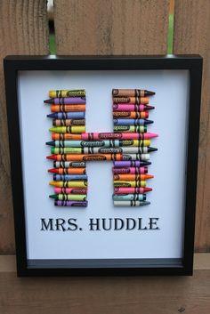 Crayon monogram - I like this pic better
