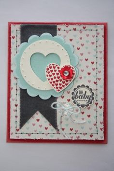 Hearts A Flutter - Oh, baby- Card